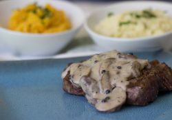 Mushroom Peppercorn Cream Sauce and Alexia Premium Side Dishes